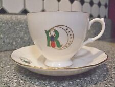 Vintage Odd Fellows Rebekah Tea Cup and Saucer Ridgway Potteries