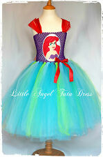 Ariel The Little Mermaid Tutu Dress, Disney Princess Dress, Handmade + Lined Top