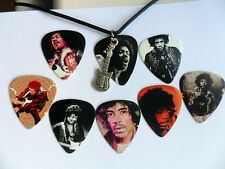 JIMI HENDRIX Guitar Pick / Plectrum  Necklace and Guitar Charm Choice of Eight