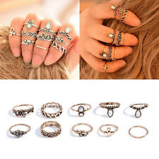 Set of 10 Fingerring Ring Fingerspitzenring Knuckle Nagelring Obergelenkring