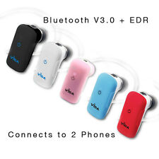 Wireless Bluetooth Headset Handsfree support for 2 Cell Phones Simultaneously