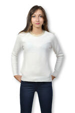 TIFFOSI - Pull femme manche longue col rond blanc