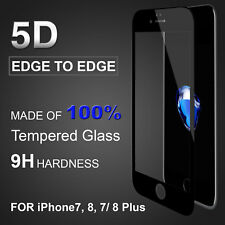 iNu Edge to Edge 5D Tempered Glass Screen Protector iPhone 7/8 Plus *US Seller