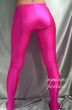 MADAME FANTASY NEON PINK OPAQUE FOOTED LEGGINGS  XS-XXXL Tall