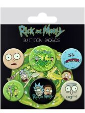 Anstecker-Paket Rick And Morty Characters