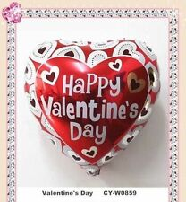 Happy Valentine Day and I Love You Red heart Balloons Helium or Air Foil Balloon