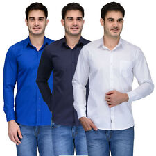 Feed Up Men's Casual / Formal Shirt / Pack Of 3