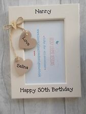 Personalised 50th/60th/70th/80th Photo Frame 6X4 5X7 8X6 10X8 QUICK DISPATCH