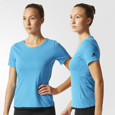 adidas Womens Climachill T-Shirt Running Fitness Gym Top Blue Size XS Small NEW
