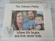 Family Memories Personalised Photo Frame Gift 6X4 5X7 8X6 10X8 ANY WORDING