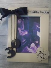 30th Birthday Personalised Photo Frame Gift 6X4 5X7 8X6 10X8 ANY WORDING