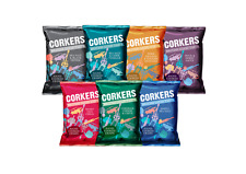 Corkers Crisps Mxd Box 7 Flavours - Available in - 7x40g,24x40g &  48x40g