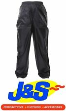 IXS CRAZY WATERPROOF OVER PANTS TROUSERS MOTORCYCLE MOTORBIKE TRS WP BLACK J&S