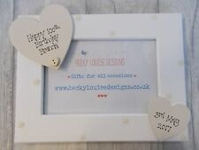 Wooden Personalised 100th Birthday Photo Frame Gift PROMT DISPATCH