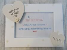 Wooden Personalised 70th Birthday Photo Frame Gift PROMT DISPATCH