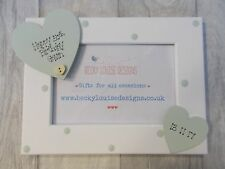 Wooden Personalised 50th Birthday Photo Frame Gift PROMT DISPATCH