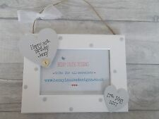 Hanging Wooden Personalised 30th Birthday Photo Frame Gift PROMT DISPATCH