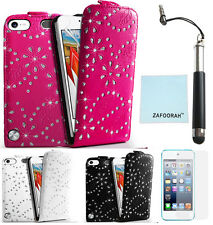 Leather Flip Bling Glitter Case Cover for Apple iPod Touch 5th 6th Generation