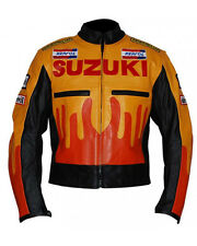 Suzuki Motorbike Leather Jacket Sports Racing Motorcycle Cowhide Leather Jacket