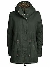 Ladies Winter Jacket NEW LEEDS CANVAS PARKA Peat dark green khaki With Fur