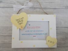 Hanging Wooden Personalised 60th Birthday Photo Frame Gift PROMT DISPATCH