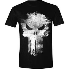 T-shirt The Punisher Distressed Skull logo Marvel maglia teschio Uomo ufficiale