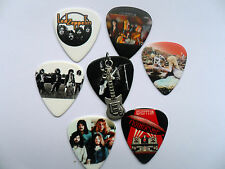 LED ZEPPELIN Guitar Pick / Plectrum and Guitar Charm Silver Necklace 7 To Choose