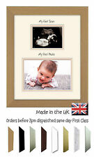 My First Scan My 1st Picture Double Mount Baby Photo Frame by Photos in a Word