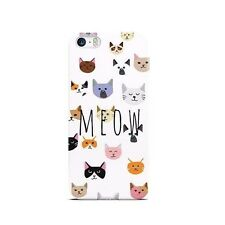 Cats Cute Kitten Lovers MEOW Hard Case Cover for iPhone 5/5s/SE 5c 6/6s Plus