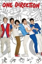 New One Direction Cartoon Capers 1D Poster