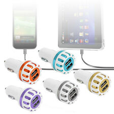 Universal Double USB Car Charger Portable Sun Flower Smart Quick Charger F1