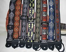 "Ukulele /Mandolin/ Banjolele 1.5""wide Instrument Strap - Mix & Match Collection"