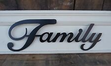 METAL WORD ~Home Decor~ FAMILY HOPE LOVE LAUGH FAITH LIVE ~Black Letter Wall Art