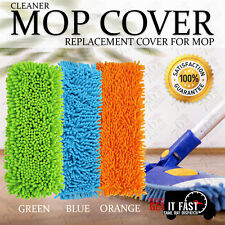 MICRO-FIBER MOP HEADS REPLACEMENT CLOTH DUST CLEANING PAD WASHABLE FITS STANDARD