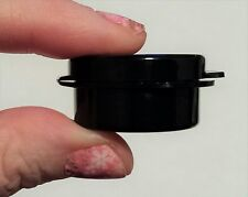 Lot of 50 sample containers hinged plastic jar 5gm trial 5mL 1/6 oz Lacons black