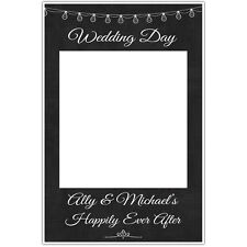 Wedding String Lights Chalkboard Polaroid Selfie Frame Photo Booth Prop Poster
