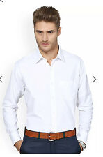 100% Pure Cotton White Formal + Casual Shirt for Men