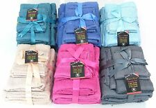 6PC ECONOMY SOFT TOWELS SET INCLUDE 2 BATH ,2 HAND,2 FACE ASSORTED COLOURS FOR D