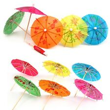 Colorful Mixed Paper Cocktail Drink Umbrellas Parasols Picks Party Drinks UK