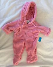 NEW Vermont Teddy Bear Hoodie Footie Pink Jumpsuit For 15