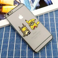 TOTORO PIKACHU Pokemon My Neighbor Neighbour Case Cover iPhone 5/5s/SE 6/6s Plus