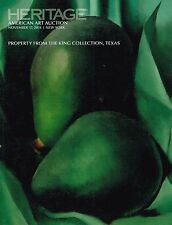 HERITAGE AMERICAN ART AUCTION # 5198 THE KING COLLECTION , TEXAS CATALOG RARE