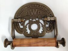 Antique Cast Iron Vintage Style GWR toilet roll holder Great Western Railway