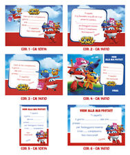 "Inviti Compleanno ""Super wings"" in cartoncino o PDF"
