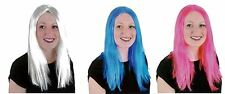 Womens Ladies Wig Fancy Dress Cosplay Wigs Pop Party Costume Different Colours