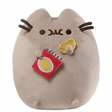 Gund PUSHEEN Cat Stuffed Snackable Plush with Potato Chips and Embroidered Bag