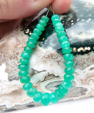 BEAUTIFUL RARE MATERIAL AA+ COLOMBIAN RICH GREEN EMERALD BEADS-NATURAL COLOR