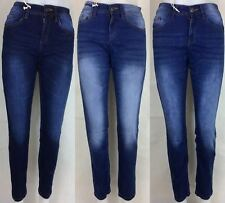 LADIES SUPPER SKINNY JEANS DENIM DARK BLUE/ BLUE/ INDIGO GENERAL WASH SIZE 6-18