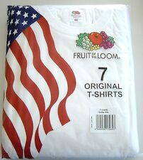 Fruit of the loom T-Shirt 7-er Pack Original T-Shirts weiß Größe M, L, XL, XXL