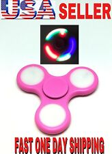 BEST LED Spinner Fidget PINK NEW COLOR,AUTO FLASHING,LIGHTING COLORS,HAND TOY